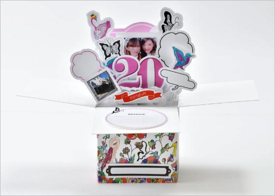 HAPPY BOX (蝶、花などのイラスト)【A】写真