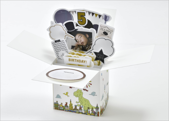 HAPPY BOX (恐竜、車などのイラスト)【B】写真